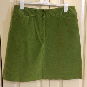 Talbots Cotton Stretch Corduroy A-Line Skirt
